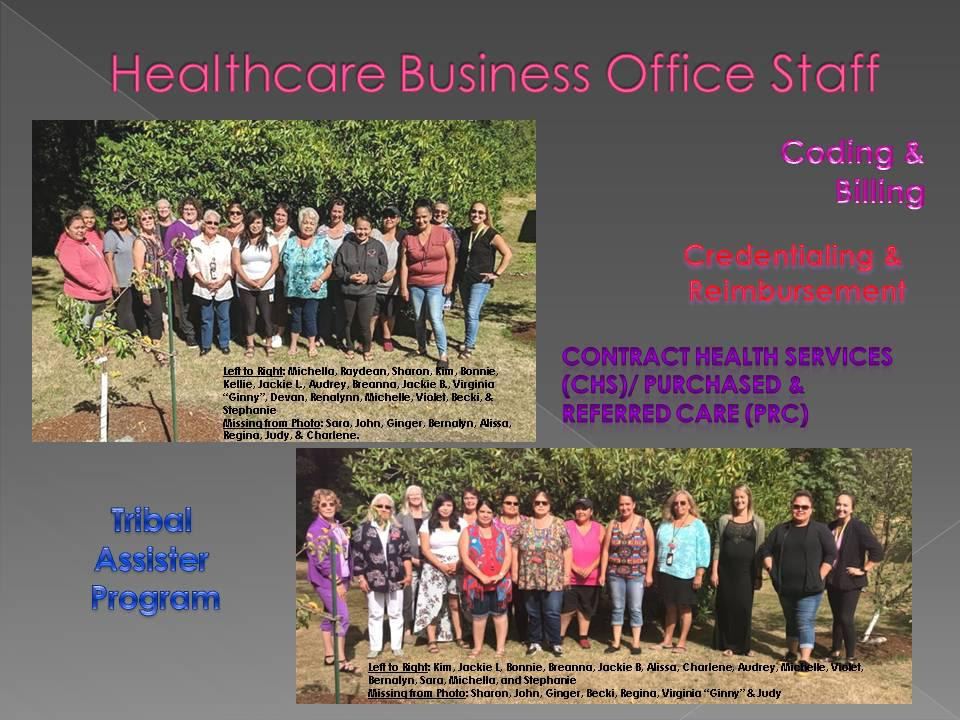 Healthcare Business Office Department Employees