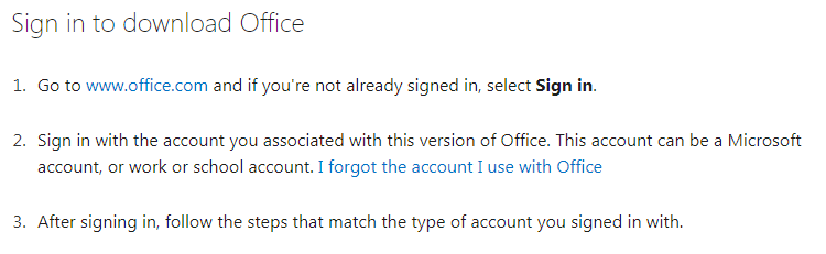 Log in to Office.com